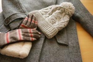 防寒グッズ 手袋 ニット帽 マフラー コート